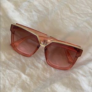 Free People Pink Sunglasses